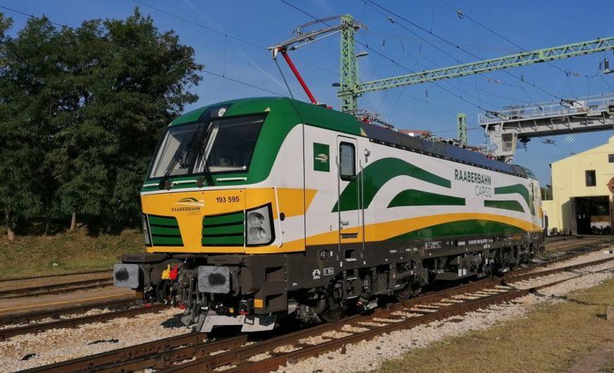 Neueste Siemens Vectron-Lok bei der Raaberbahn Cargo