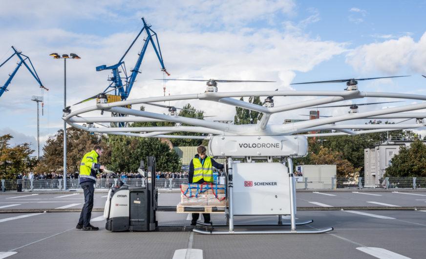 VoloDrone absolviert ersten öffentlichen Flug für den Logistiker DB Schenker